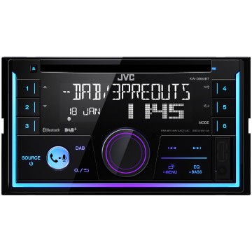 JVC KW-DB93BT Sintolettore CD 2-DIN con interfaccia Bluetooth per viva voce e streaming audio e radio digitale DAB